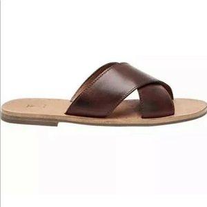 Frye  Woman's Ally Criss Cross Slide Sandal